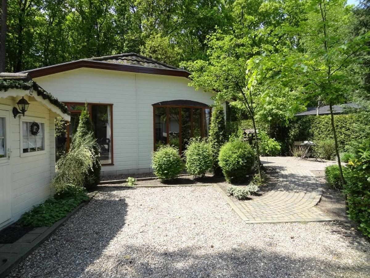 Te huur luxe en compleet vakantiehuisje op de Veluwe te midden van bos en heide ideaal voorkinderen en 50 plussers!  header afbeelding