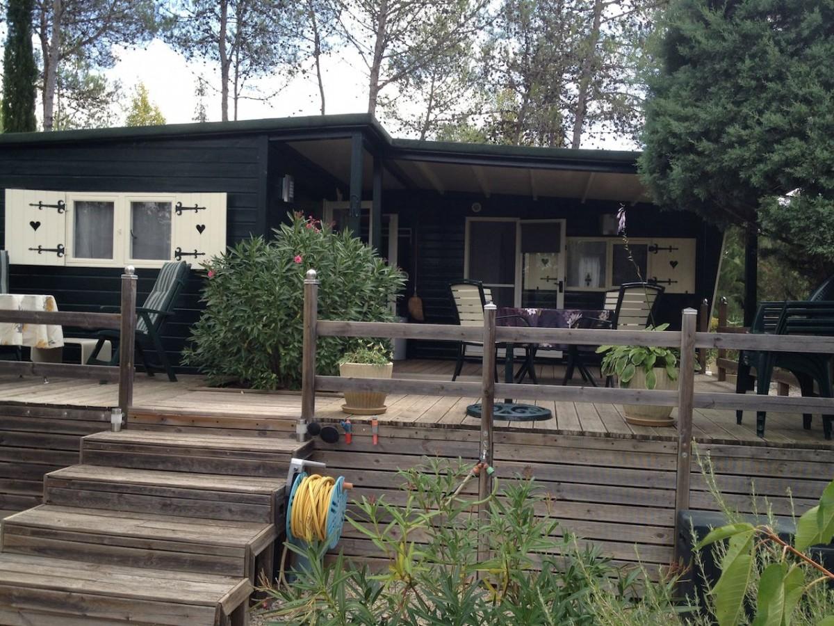 Te huur 2 chalets 4 persoons in zuid Frankrijk Languedoc. header afbeelding
